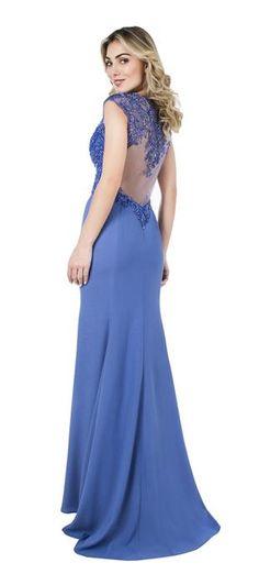 Vestido Sereia Decote V Becker | Dolps