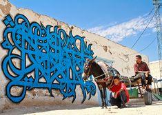 "French-Tunisian street artist eL Seed ""calligraffiti"""