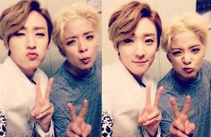 Kevin with Amber of f(x)