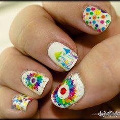 Laser print nail art: creating beautiful, intricate, colorful nail art the easy way