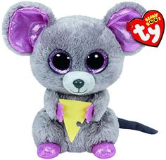 c210ab721a7 Amazon.com  TY Beanie Boo Plush - Squeaker the Mouse 6-Inch  Toys   Games