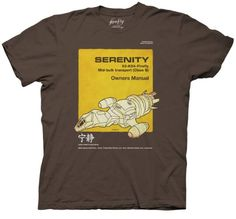 Firefly Serenity Owners Manual T-shirt:Amazon:Clothing