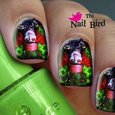 Nail Decals Nail Transfers Nail Wraps Art 20 Alice in Wonderland The Mad Hatter | eBay