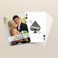 Wedding Favors: a deck of cards. I love collecting decks of cards. This is perfect!
