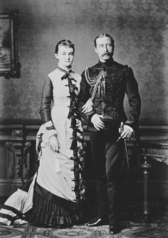 Reichard & Lindener : Berlin - Arthur, Duke of Connaught, and Princess Louise Margaret of Prussia, 1878 [in Portraits of Royal Children Vol.23 1878-79]