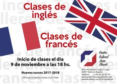 Cursos de Inglés y Francés - Inicio de las clases el día 9 de noviembre a las 18 hs. Imparte los cursos la profesora Maritza Nuñez. Las clases se imparten en el Centro Cultural Juan Bosch.   #Curso de Francés #Curso de Inglés #Cursos de Inglés y Francés 2017-2017 Calm, School Starts, French Lessons, English Course, Cultural Center, Learning English, Reunions, Teacher, French Tips