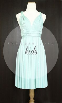 KIDS Mint Bridesmaid Convertible Dress Infinity by thedaintyard