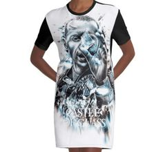 Graphic T-Shirt Dress • Also buy this artwork on apparel, stickers, phone cases, and more.  #ripchesterbe #ripchesterbennington #rockstar #hipmetal #metal #pop #chesterbennington #music #musician #masterpiece #legend #allstar #linkinpark