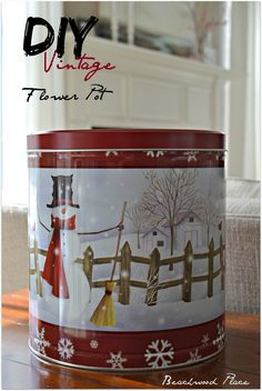 DIY Vintage Flower Pot