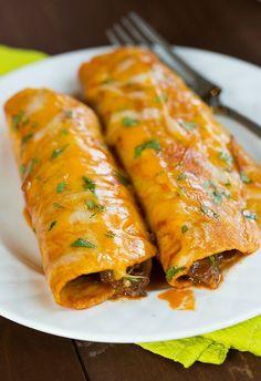 Beef Enchiladas | browneyedbaker.com #recipe #mexican