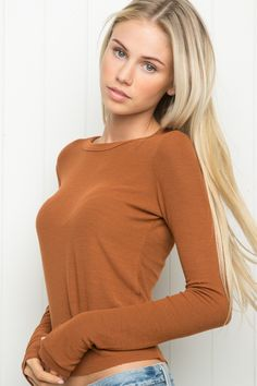 Brandy ♥ Melville   Kenzie Top - Long Sleeves - Tops - Clothing, $19