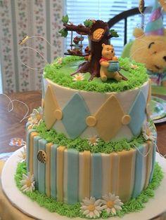 Winnie the pooh baby shower cake.