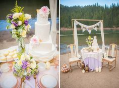cake by Bake Me a Kake   Disney Tangled Wedding Ideas http://www.jessicaephotography.com/