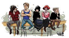 The Breakfast Club by beyx on DeviantArt The Breakfast Club, Breakfast Club Quotes, 80s Movies, Good Movies, 1980s Films, Movies Showing, Movies And Tv Shows, Brat Pack, Fan Poster
