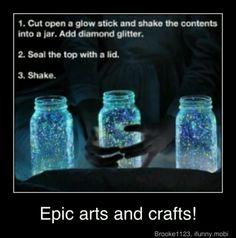Arts and crafts  would be super cute at a party, or out at the beach a late summer night. :*