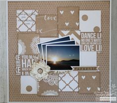 """Kaisercraft Scrapbooking Paper : The """"P"""" word! P Words, Teresa Collins, Mix Match, Scrapbooking Layouts, Scrapbook Paper, Birthday Cards, Projects To Try, Colours, Frame"""