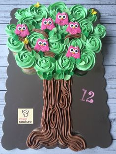 Owl Cupcake Tree by Oven Couture https://www.facebook.com/Oven-Couture-Smallish-Confection-Perfection-239221606110260/