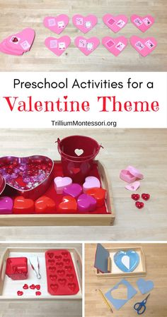 Valentine Theme Activities - Trillium Montessori