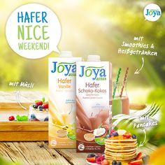 Haferdrinks passen perfekt zu deinem gemütlichen Brunch - egal ob zu Müsli, Pancakes, im Kaffee oder Smoothie. Probiere die verschiedenen köstlichen Hafer Drinks von Joya. #hafer #haferdrink #vegan #laktosefrei #pflanzlich #vanille #schokolade #kokosdrink #brunch #pancakes #müsli #frühstück #joyaworld #joya Smoothie, Pancakes, Brunch, Drinks, Vanilla, Chocolate, Kaffee, Don't Care, Products