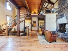 Interior of luxury home in Bend, Oregon