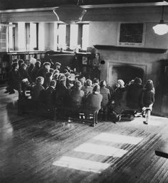 Wychwood Branch Library vintage photo March 18 1939 March. Children's room and story time.