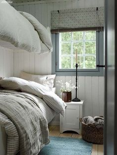 Cheap Home Decor .Cheap Home Decor Swedish Cottage, Cottage Bedroom, Bedroom Design, Farmhouse Bedroom Decor, Country Cottage Decor, Home Decor, Scandinavian Cottage, Small Bedroom, House Interior