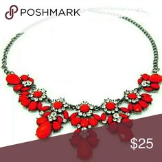Red Statement Necklace Adjustable New Brand New  Bundle & Save  Hypoallergenic Nickel Free  Great for Sensitive Skin zdazzled Jewelry Necklaces