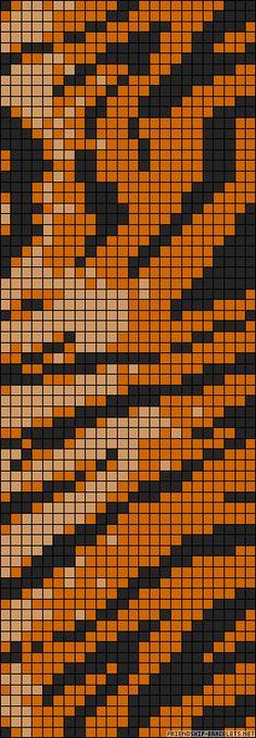 Bead loom bracelet pattern. Seed beads