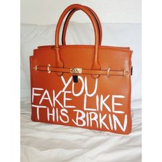 You Fake Like This Birkin CARAMEL found on Polyvore featuring polyvore and bags