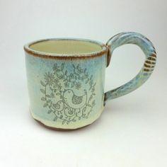 Bird and Chicks Mug Birds, Ceramics, Mugs, Tableware, Ceramica, Pottery, Dinnerware, Tumblers, Tablewares