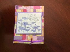 Pink and purple mosaic happy birthday card
