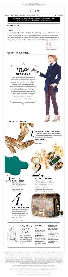 J.Crew - My guide to holiday party style
