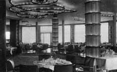 Interior of the Normandie ocean liner
