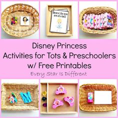 Every Star Is Different: Disney Princess Activities for Tots & Preschoolers w/ Free Printables (Learn & Play Link Up)