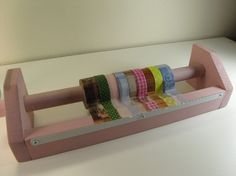 Washi Tape Dispenser-Organizer-Masking Tape Holder-Wooden with tape cutter..soooo many uses