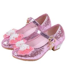 2017 New Girls Princess Single Shoes Fashion Sequins Girls High Heels Child Wedding Shoes PU Leather Kids Party Teenager Shoe Baby Fancy Dress, Dress With Bow, Girls Glitter Shoes, Girls Shoes, Kids Wedding Shoes, High Heels For Kids, Bow Shoes, Kids Boots, Childrens Shoes
