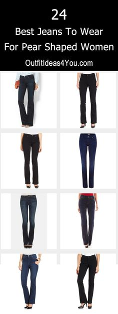 24 Best Jeans For Pear Shaped Women. http://OutfitIdeas4You.com                                                                                                                                                                                 More