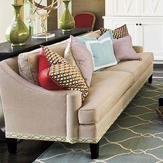 Neat Idea! Add interest to furniture with decorative trim.