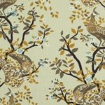 Vintage Plumes Birch Floral Printed Drapery Fabric by DwellStudio for Robert Allen