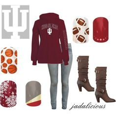 """""""hoosiers"""" by jadalicious on Polyvore, jamberry nails, #jamberry"""