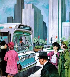 """In 1959, General Motors introduced its iconic """"New Look"""" transit bus."""