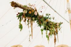 Newest Totally Free Sperry Tent Autumn Wedding Styling - A Season of Colour (Part - # Ideas Buy wedding decoration made simple Once you organize a wedding , you've to focus on the Budget aga Hanging Flowers Wedding, Hanging Wedding Decorations, Tent Decorations, Fall Wedding Flowers, Autumn Wedding, Flower Decorations, Floral Wedding, Arch Flowers, Wedding Greenery
