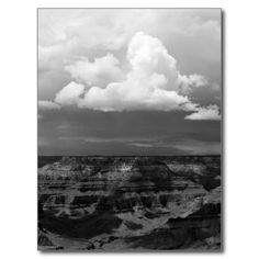 Grand Canyon National Park Storm Clouds new postcard by Tammy Winand