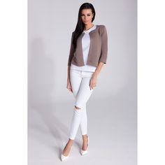 bluzka model f black fobya shirt blouseblouse tunics Fobya White Jeans, Lifestyle, Tunics, Casual, Pants, Shirts, Shopping, Black, Fashion