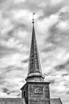Stiklestad Church spire at Stiklestad, Verdal, Nord-Trøndelag, Norway.