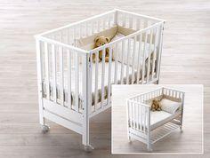 Das #Beistellbett CONTACT ist super durchdacht und medizinisch empfohlen, denn es verfügt über ein höhenverstellbares Kopfteil, das sich besonders bei Refluxproblemen eignet. Es kann auch als normales #Babybett genutzt werden und ist in verschiedenen Farben erhältlich. www.pali-world.de Cribs For Small Spaces, Co Sleeper Crib, Princess Room, Luxury Sofa, Bedroom Colors, Home Projects, Nursery Decor, Kids Room, Design
