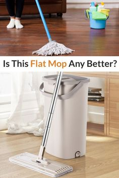 This flat mop makes floor cleaning easy and impromptu, it cleans itself quickly so that you don't have to waste time with twisting dirty mop heads. Cleans hard to reach corners with its 360 degree rotation mop design. Great for any surfaces like tile, wood, stone and even cement floors. The mop cleans itself quickly and efficiently without any effort making it the perfect mop for any household. #mop #360mop #cleaningmop