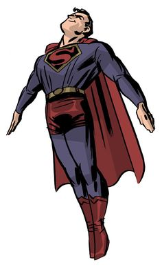 Darwyn Cooke's Superman from his graphic novel, The New Frontier. Love the retro look!