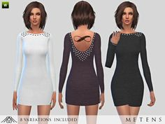 The Sims Resource: Pearl - Dress by Metens • Sims 4 Downloads