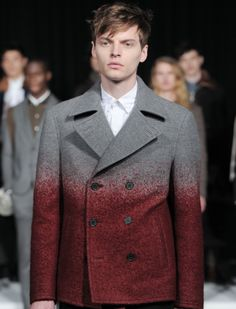 Source WGSN- Ombre blazer Double Breasted Suit, Suit Jacket, Blazer, Suits, Coat, Jackets, Collection, Fashion, Down Jackets